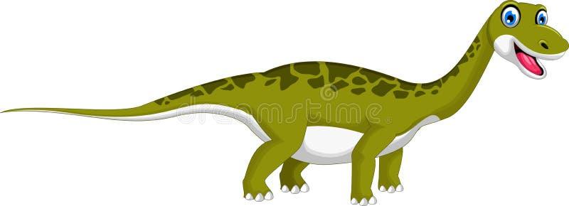 gullig dinosaur för tecknad film stock illustrationer