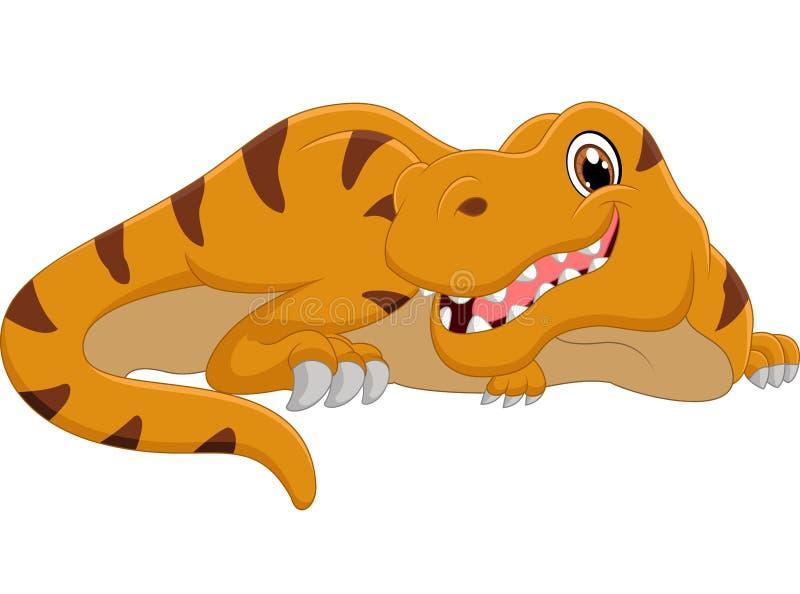 gullig dinosaur för tecknad film royaltyfri illustrationer