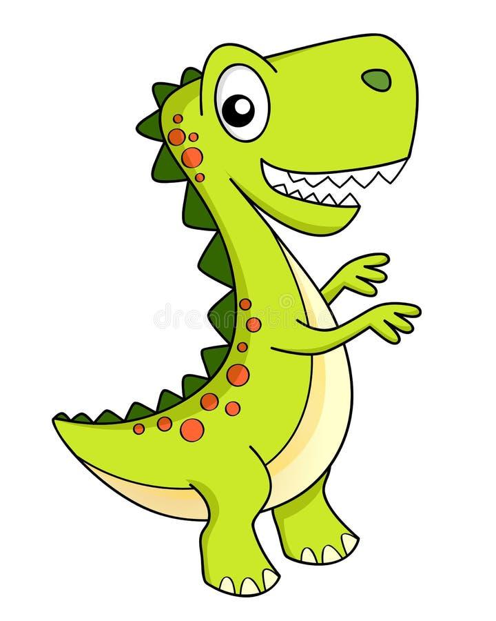 gullig dinosaur för tecknad film dino royaltyfri illustrationer