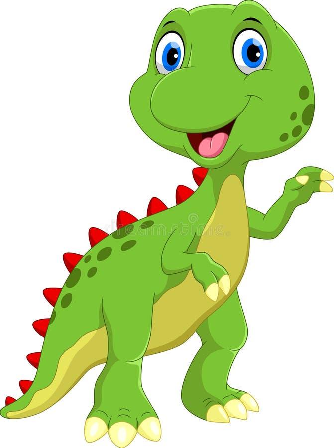 gullig dinosaur för tecknad film Roligt och förtjusande vektor illustrationer