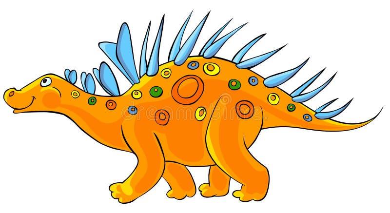 gullig dinosaurkentrosaurus vektor illustrationer