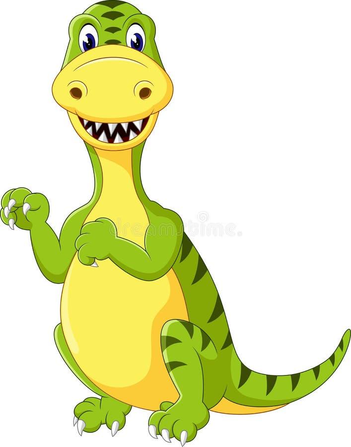 gullig dinosaurus stock illustrationer