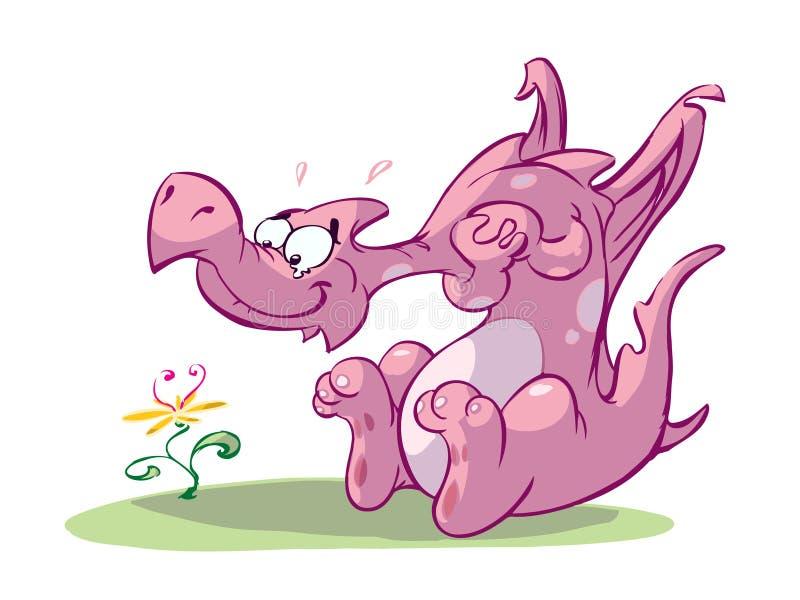 gullig drakepink stock illustrationer