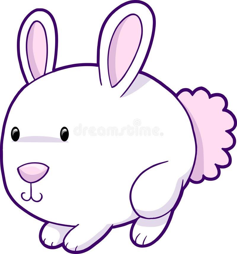 gullig easter för kanin vektor stock illustrationer