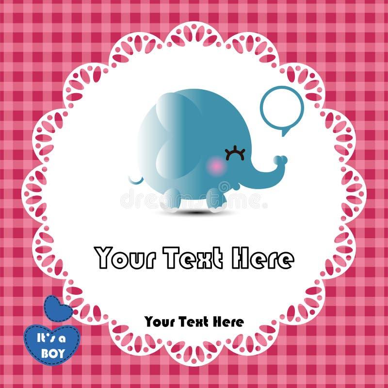 Download Gullig elefant vektor illustrationer. Illustration av lace - 27287220