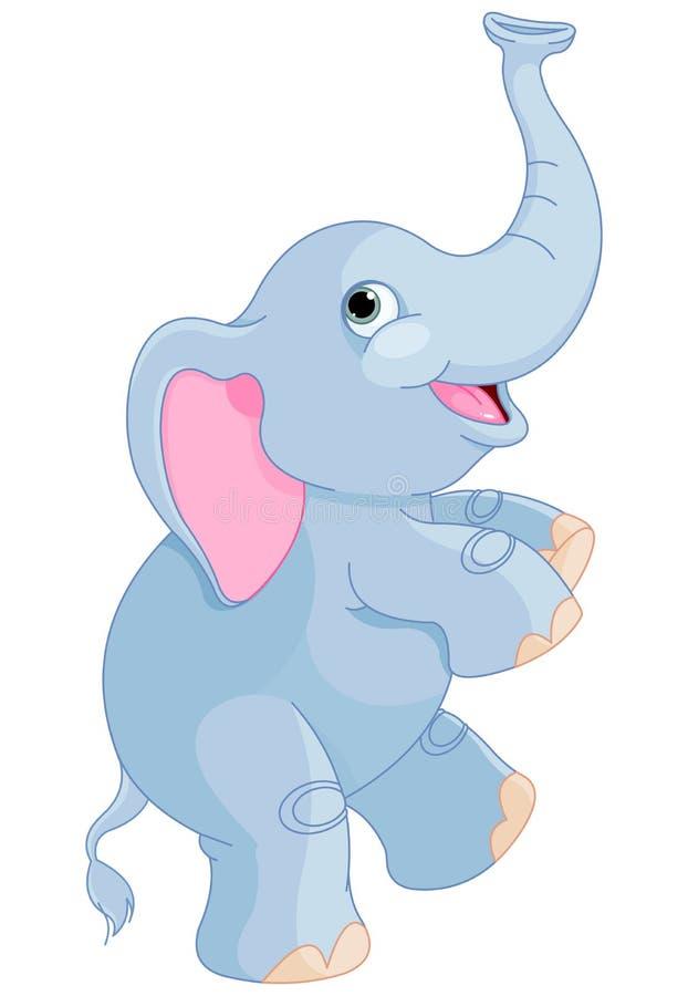 gullig elefant stock illustrationer