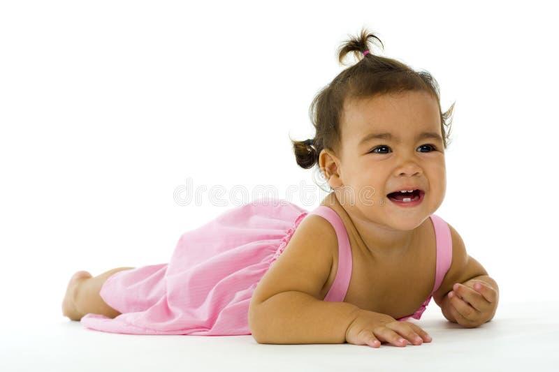 gullig engelsk flicka little som är thai royaltyfria foton