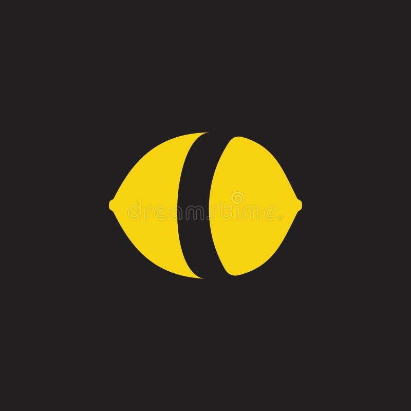 Gullig enkel geometrisk logovektor för lemonad royaltyfri illustrationer