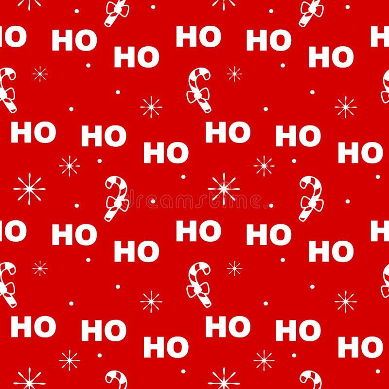 Gullig festlig sömlös illustration för vektormodellbakgrund med julljus girland och snöflingor stock illustrationer