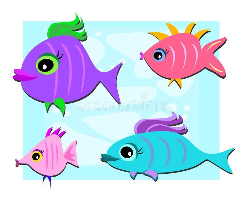 Download Gullig fiskmix vektor illustrationer. Illustration av cartoon - 19787660