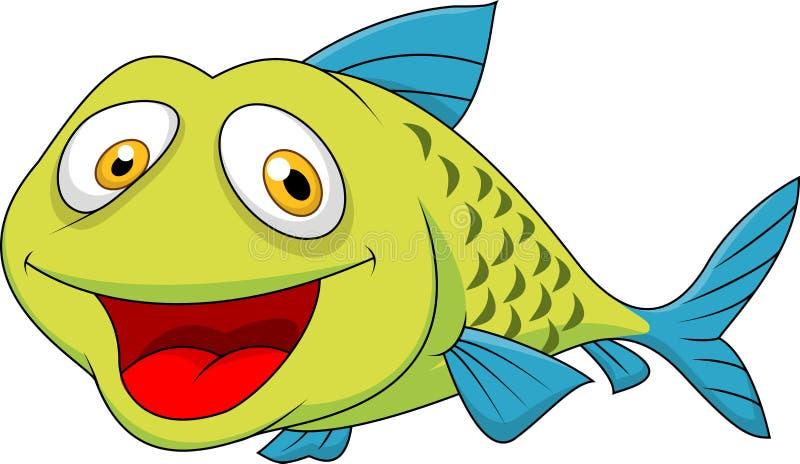 Gullig fisktecknad film vektor illustrationer