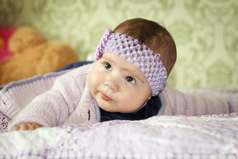 gullig flicka little arkivbild