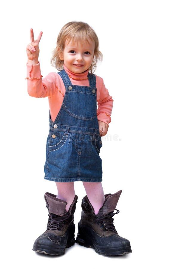 gullig flicka little som ler royaltyfri fotografi