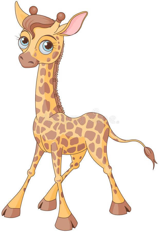 Gullig giraff vektor illustrationer