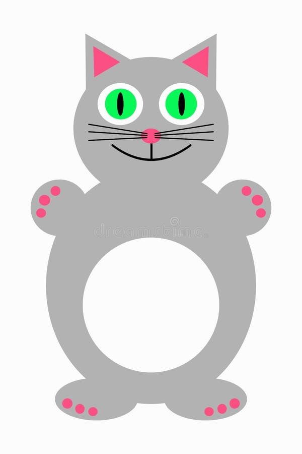 Gullig grå kattkattunge royaltyfri illustrationer