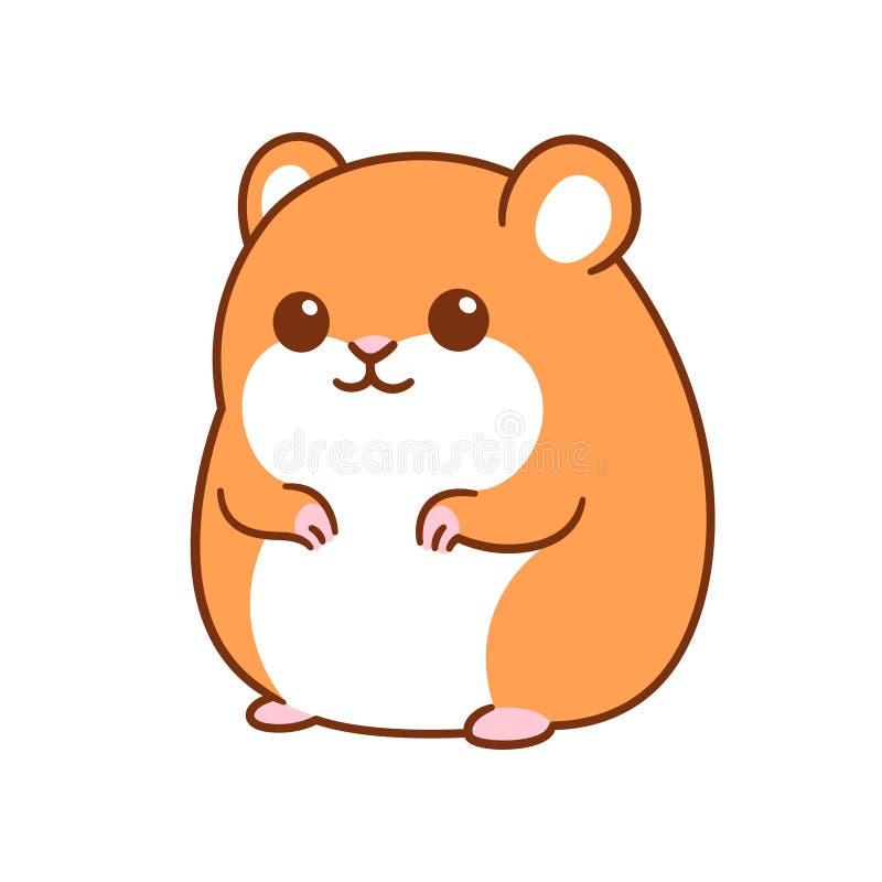 gullig hamster f?r tecknad film vektor illustrationer