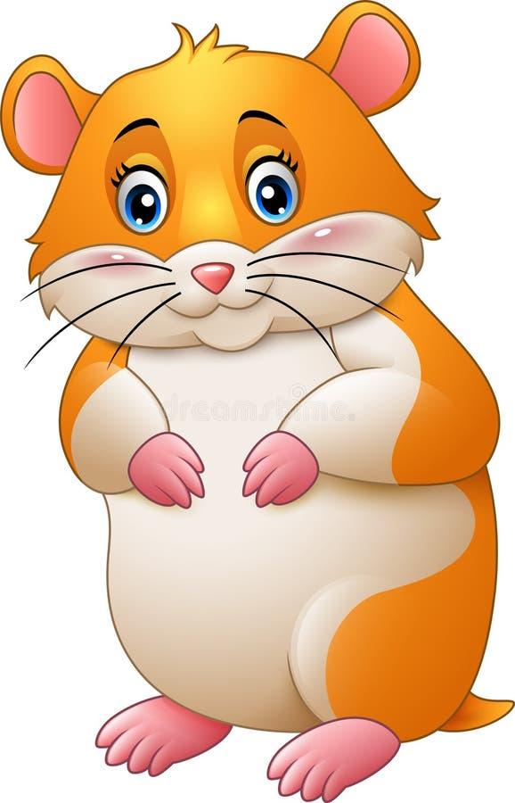 Gullig hamstertecknad film stock illustrationer