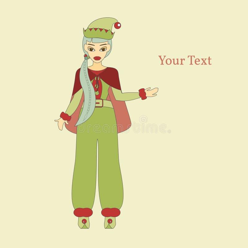 gullig hjälpreda santa royaltyfri illustrationer
