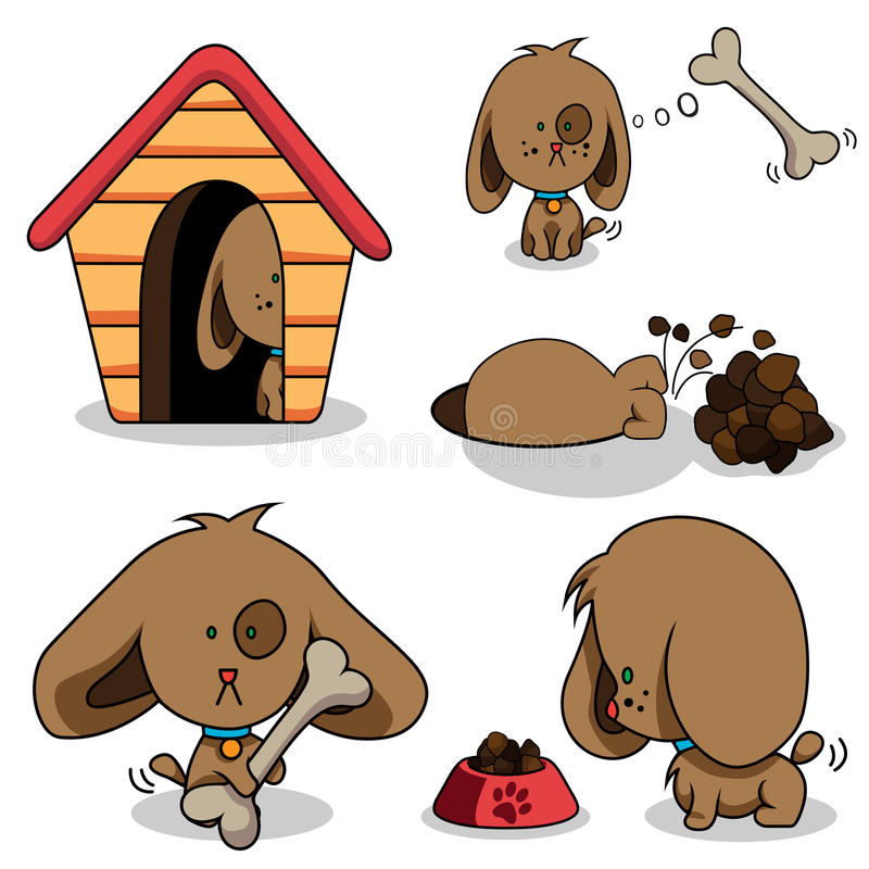 gullig hund för tecknad film vektor illustrationer