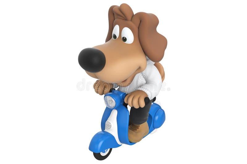 Gullig hund för tecknad film royaltyfri illustrationer