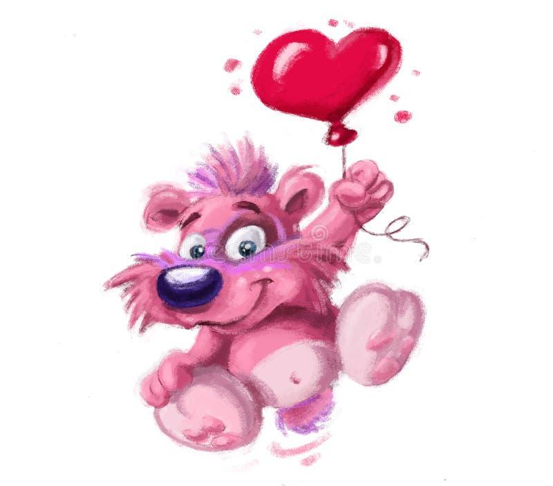 gullig hundhjärtaförälskelse royaltyfri illustrationer