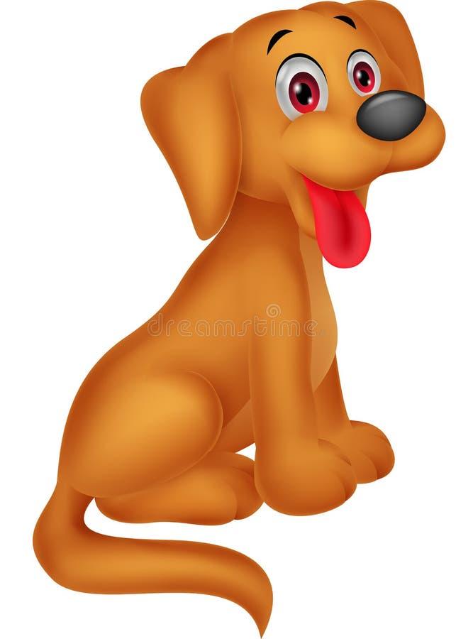 Gullig hundtecknad film stock illustrationer