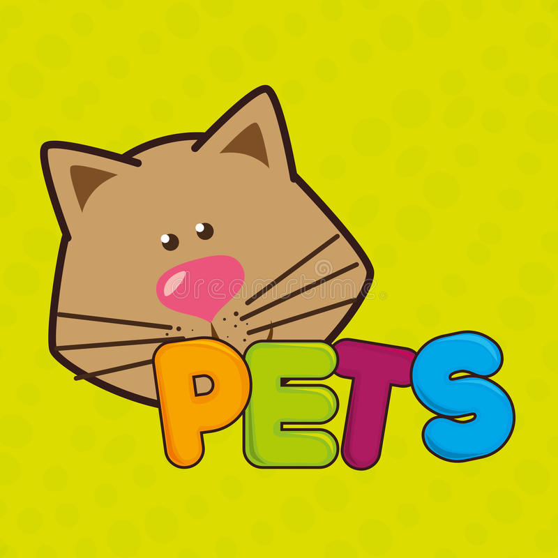 gullig husdjurdesign stock illustrationer