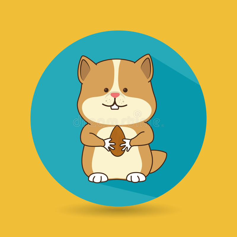 gullig husdjurdesign royaltyfri illustrationer