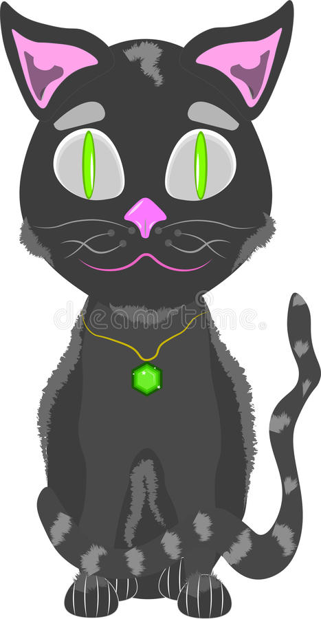 gullig illustration för katt arkivbilder