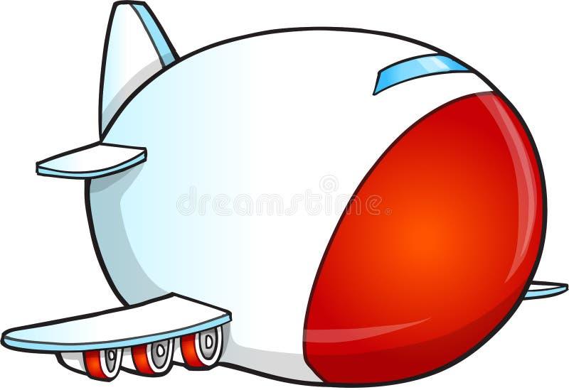 Gullig jumbo Jet Vector royaltyfri illustrationer