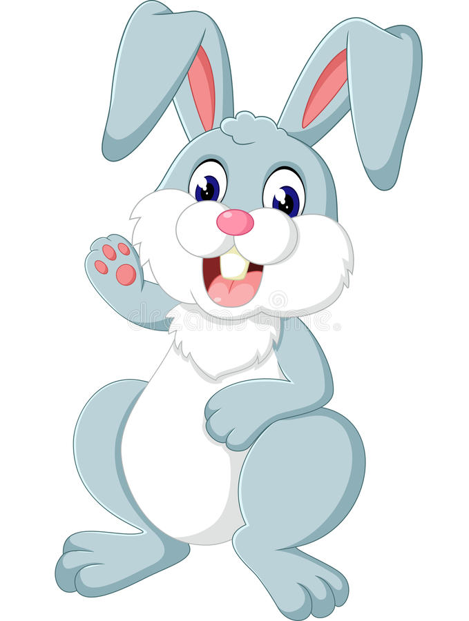 gullig kanin stock illustrationer
