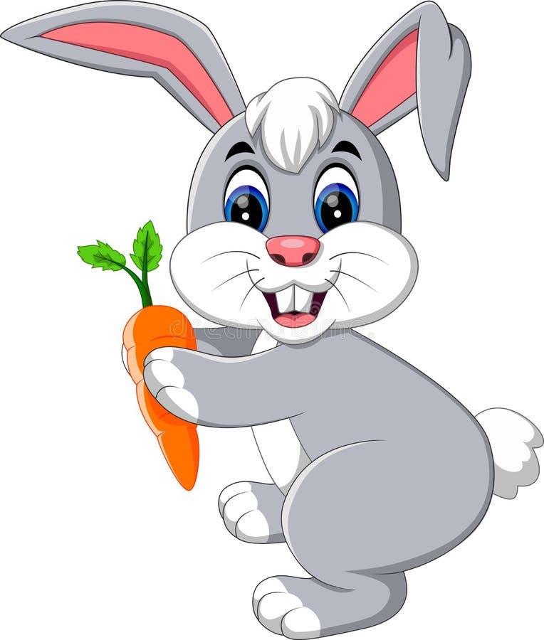 gullig kanin royaltyfri illustrationer