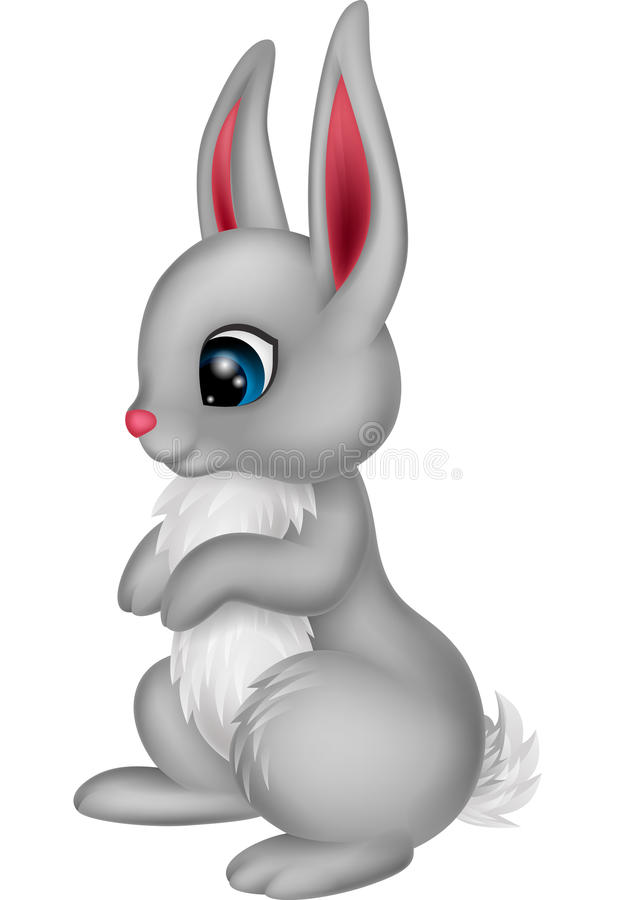 gullig kanin för tecknad film vektor illustrationer