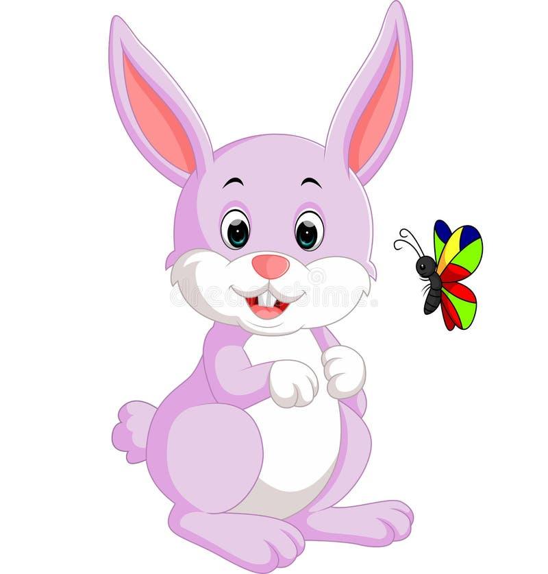gullig kanin för tecknad film stock illustrationer