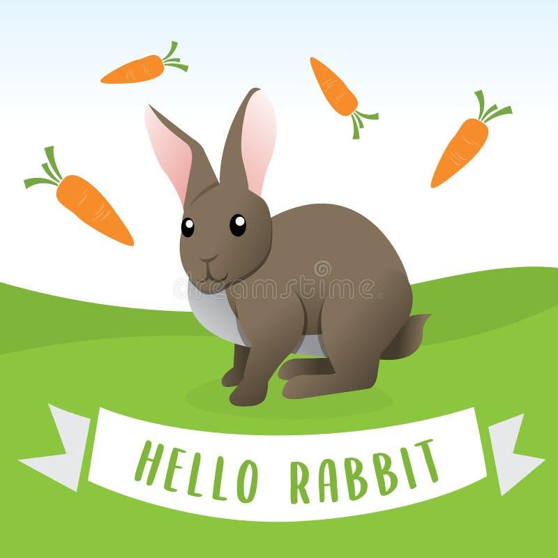 gullig kanin f?r tecknad film vektor illustrationer
