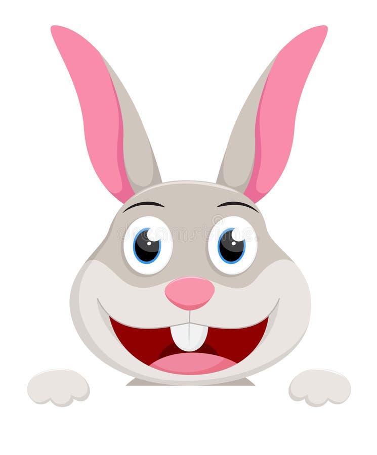 Gullig kanin med den tomma uppsättningen för teckentecknad filmsamling royaltyfri illustrationer