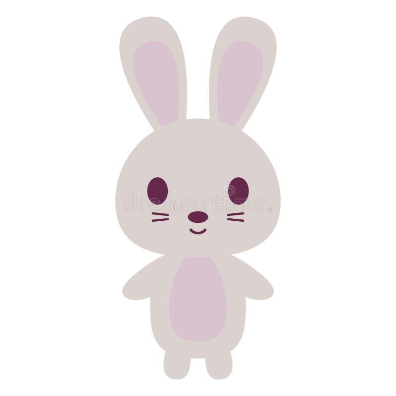 gullig kaninwhite royaltyfri illustrationer