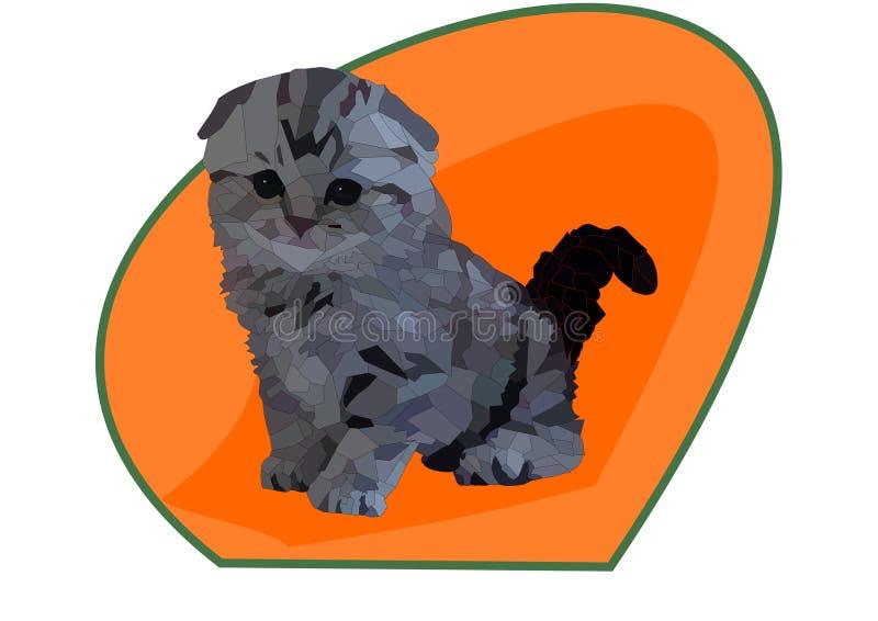 Gullig katt med härliga ögon vektor illustrationer