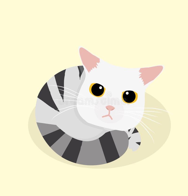 Gullig kattsömn vektor illustrationer