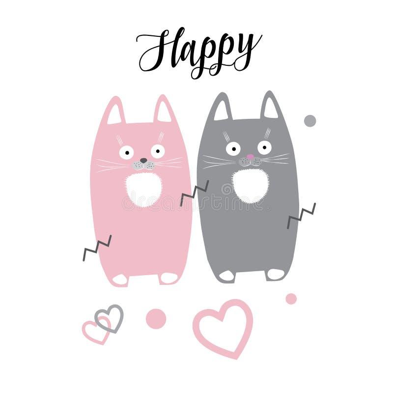 Gullig kattunge royaltyfri illustrationer