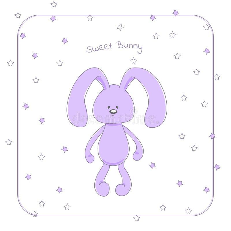 Gullig kelig kanin royaltyfri illustrationer