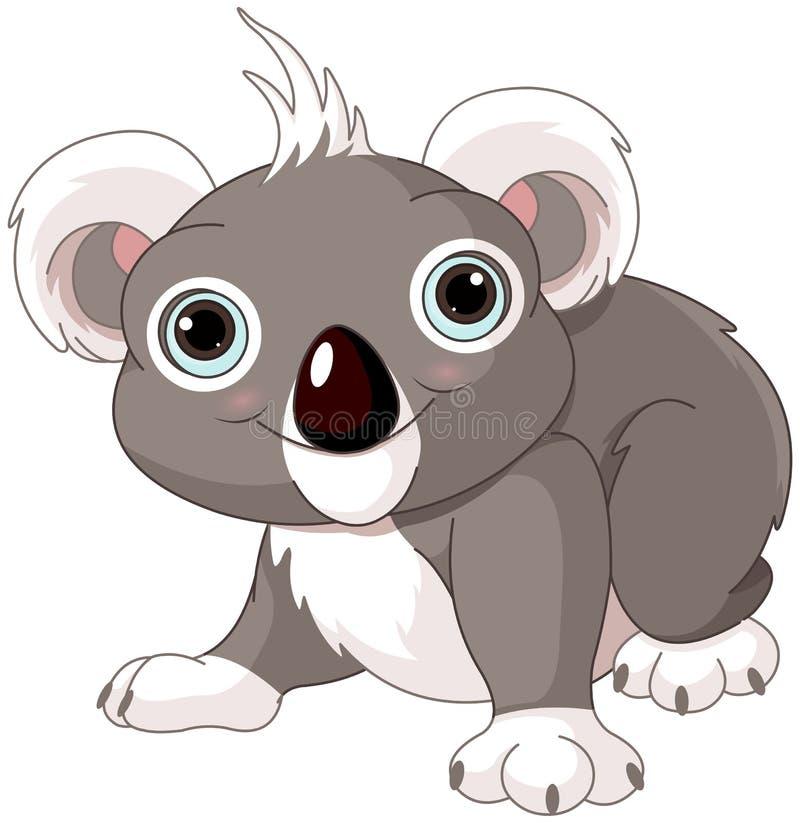 Gullig koala royaltyfri illustrationer