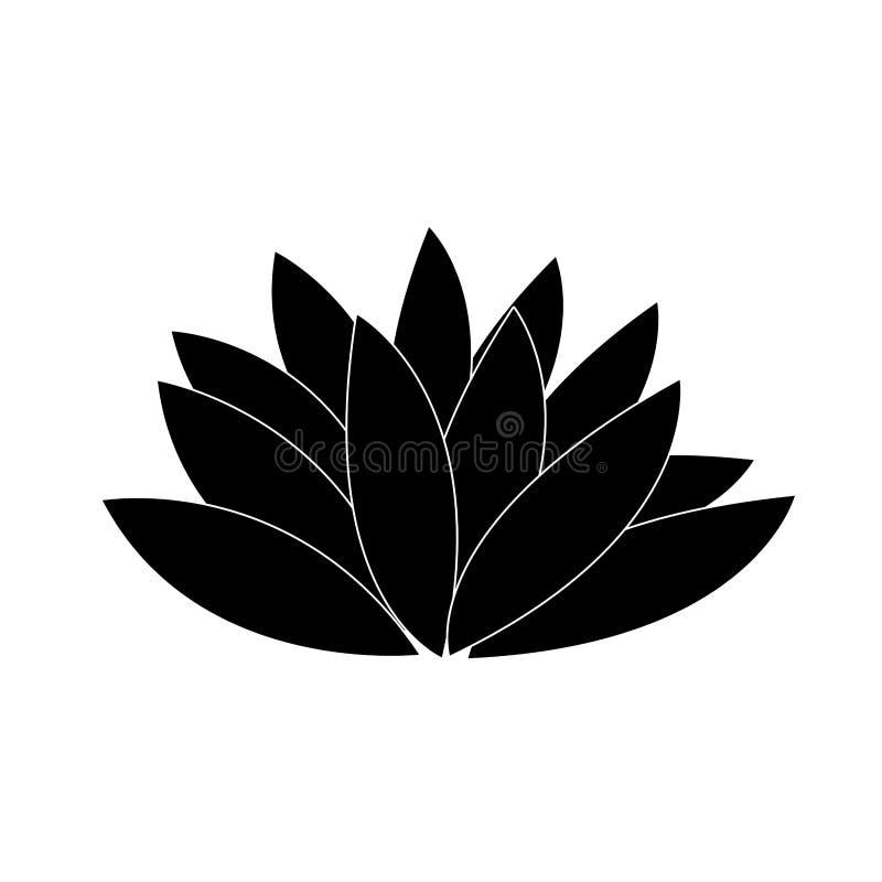 Download Gullig konturblomma vektor illustrationer. Illustration av element - 106830594