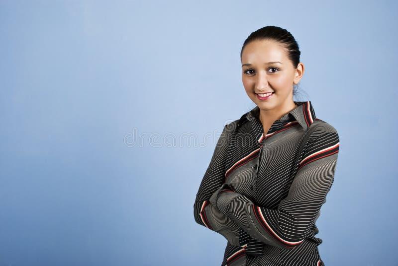 gullig kvinna för affär royaltyfri foto