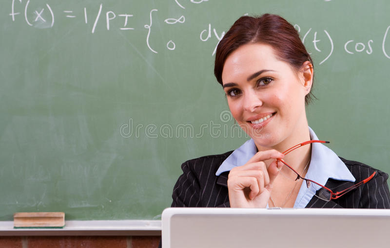 gullig lärare arkivfoton