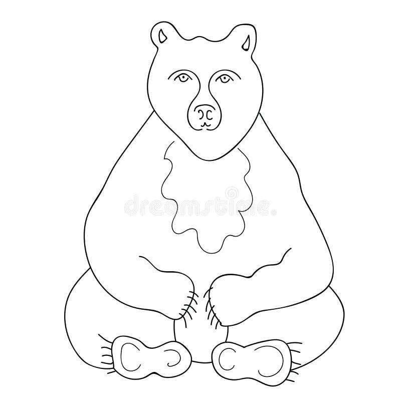 Gullig lös björn för vit och för svart royaltyfri bild