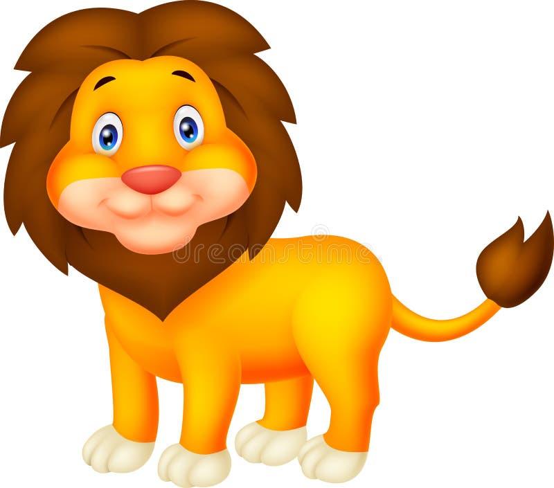 gullig lion för tecknad film vektor illustrationer
