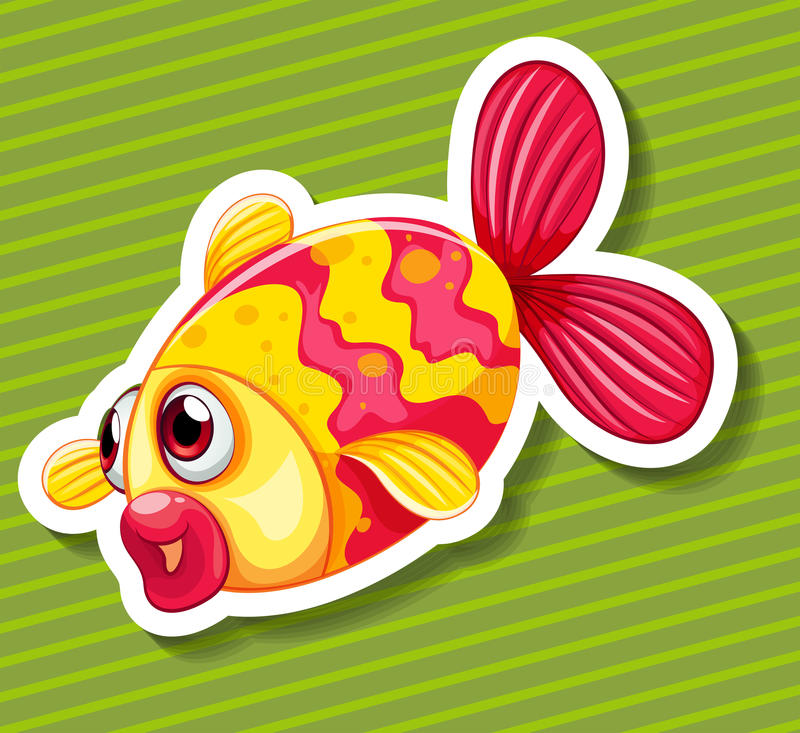 Gullig liten fisksimning vektor illustrationer