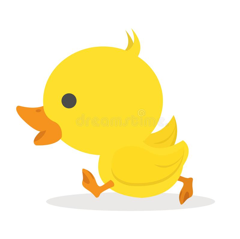 Gullig liten gul and stock illustrationer