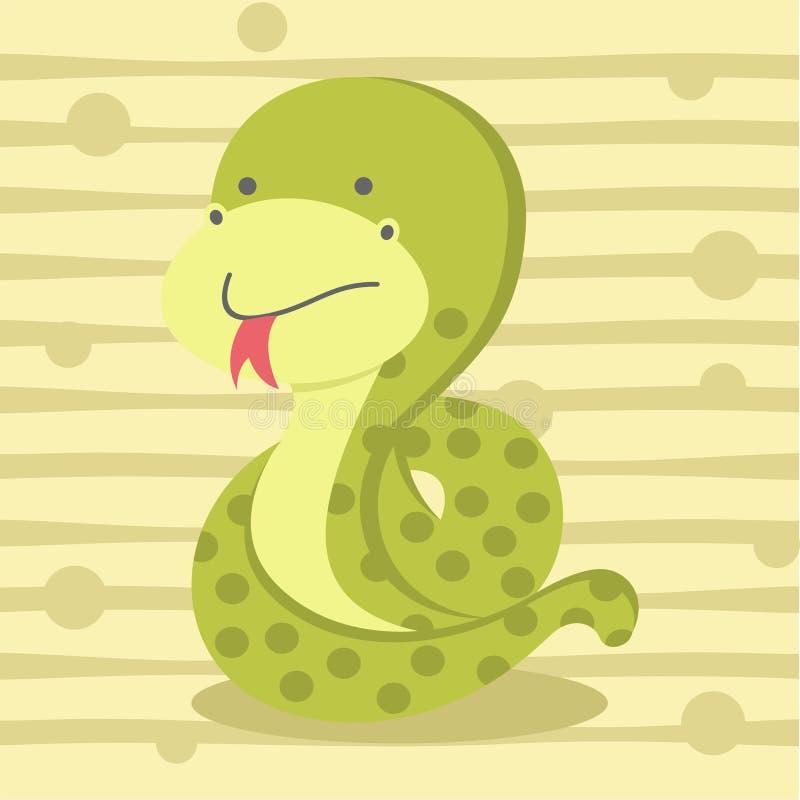 Gullig liten ormbakgrund, skjortadesign för ungar t och utbildning royaltyfri illustrationer